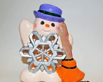 Ceramic snowman  Etsy