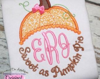 Sweet as Pumpkin Pie, Pumpkin Shirt, Pumpkin Pie Shirt, Girl Thanksgiving Shirt, Girl Fall Shirt, My First Thanksgiving