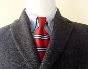 HANDSOME Vintage Hugo Boss BLACK LABEL Charcoal Gray Herringbone 3/4 Length Overcoat Coat 42 or 44 R.