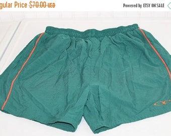 On Sale 50% OFF Vintage OP Ocean Pacific Men's Swim Suit Swim Trunks Green Orange SZ M