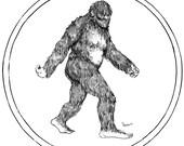 Sasquatch - Cryptid Series- Fine Art Print of my original illustration Gift Bigfoot X Files Supernatural