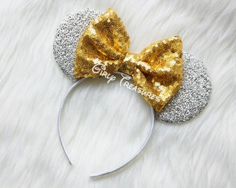 GOLD Mouse Ears Headband. Princess Mouse Ears Headband. Girl Mouse Ears Headband. Women Disney Headband. One Size Fits Most.