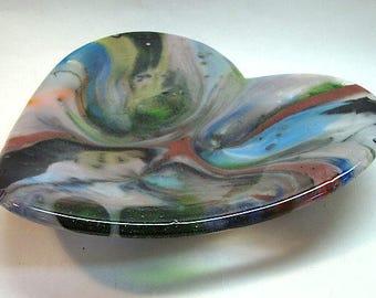 CIG-2805 Heart-Shaped Bowl - Fused Glass