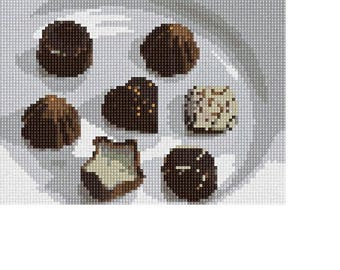 Needlepoint Kit or Canvas: Chocolate Truffles