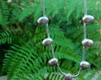 Vintage handmade silver necklace