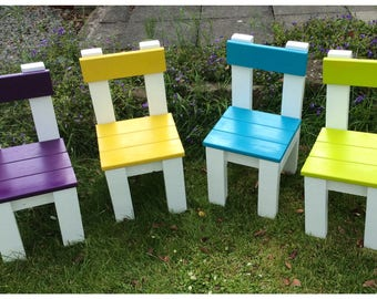 Cute Children's Reclaimed Wood Chairs Seats