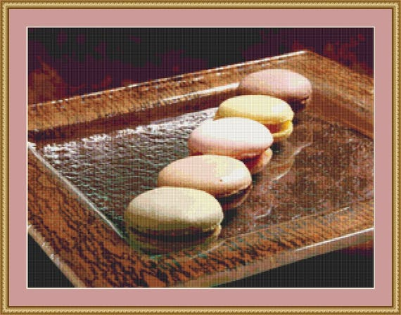 Macaroons Cross Stitch Pattern /Digital PDF Files /Instant downloadable
