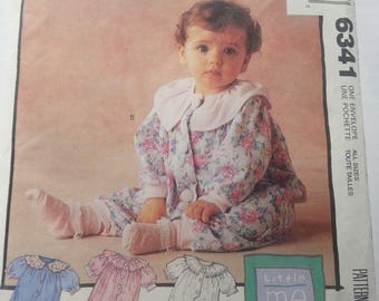 McCall's 6341 Uncut Sewing Pattern Little Me Infant's Jumpsuit In Two Lengths Size S-XL 12-24 lbs