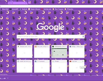 Happy Halloween Purple Google Chrome Theme