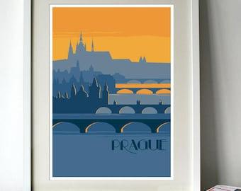 Prague Poster - A3