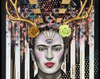 Frida,  Fine Art Print signed by Jamie Rice, Giclees from Original Paintings