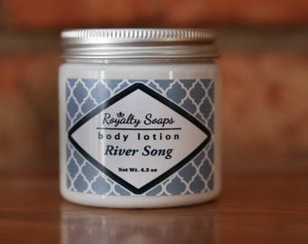 River Song Body Lotion | Doctor Who Inspired | 4.5 oz | Avocado, Jojoba, and Shea Lotion | Royalty Soaps