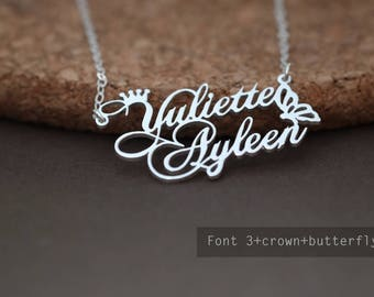 Custom Name Necklace-Personalized Name Necklace-Custom Name Gift-Your Name Necklace-Bridesmaids Jewelry-Children Names-Gift for mom. #NF3CB