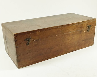 Vintage pine box, Small wooden storage box, Toolbox, Rustic, Primitive