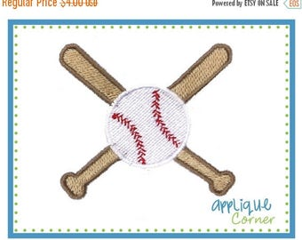50% Off 673 Mini embroidery design baseball and crossed bat digital design for embroidery machine by Applique Corner