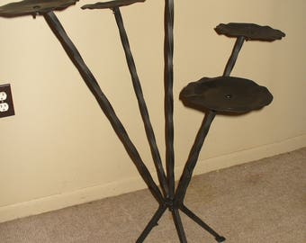Wrought Iron, Five Pod  Plant Stand