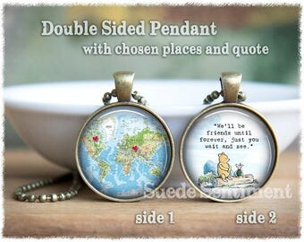Personalized Jewelry • Best Friend Gift • Long Distance Friendship • Best Friend Necklace • Sister Gift