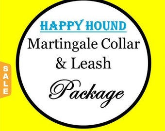 Puppy Love Sale - 40% Off Martingale Dog Collar and 6 Ft Leash Package!, Happy Hound! - Available in all Dog Collar Listings -