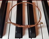 Steinway Piano String Bangle Bracelet - Upcycled Piano Wire - Gift for Musician - Pianist Gift - Unique Copper Bracelet from Steinway Piano