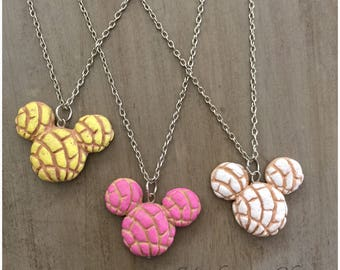 Mickey Mouse Concha Pan Dulce Necklace