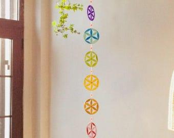 Yoga decoration, Wall hanging, Chakras flower of life Spiritual, Meditation, healing suncatcher