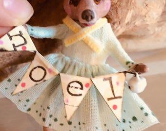 Misser Noel, Cupcakebears, Cupcakebearsandme, Christmas tree decoratie, handgemaakt, papier klei, collectors edition