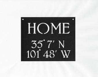 Latitude Longitude, Home address sign, address sign,metal address sign, home decor, front porch sign, custom address sign, porch sign