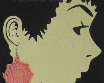 FSL Free standing lace embroidery earrings symmetry 1 digital file instant download