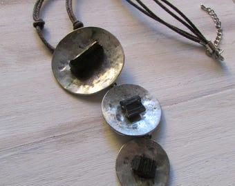 Gradient Pyrite necklace