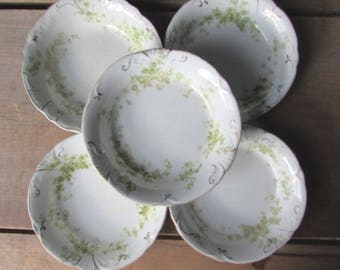 Meakin Berry Bowls 5 Green Vintage Small Bowls Alfred Meakin Windermere Pattern