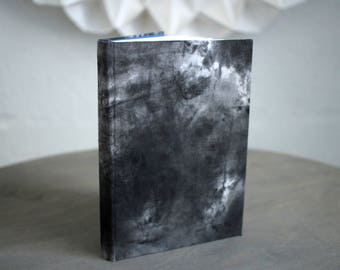 """Upcycled Hardcover Notebook """"Cloudy Cinderella"""" from Letterpress Ink Rags"""