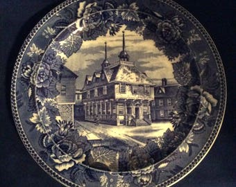 Wedgwood Historical Plate-Boston Town House
