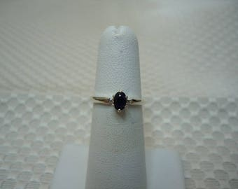 Oval Cut Blue Ceylon Sapphire Ring in Sterling Silver   #2081