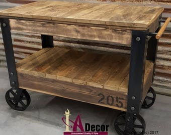 Cart Table Or Cart Island Factory Cart Table With Large Wheels Reclaimed Wood  Table Reclamed Wood