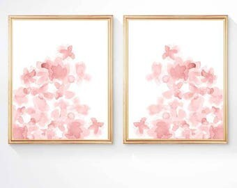 Blush Artwork, 11x14, Blush Floral Prints, Blush Painting, Blush Flowers, Blush Nursery Art, Blush Flower Prints, Watercolor Flower Prints