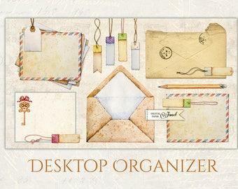 Old Paper Organizer Wallpaper - digital image