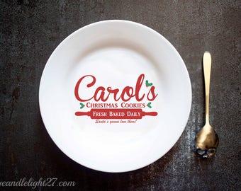 Carols Cookies - Carol's Christmas Cookies - Christmas Plate - Santa Plate - The Walking Dead - Walking Dead Art - Ceramic Plate