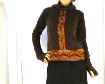sweater with Turtleneck fleece