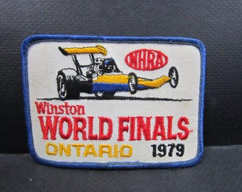 Winston Racing world finals NHRA 1979 Ontario Canada patch