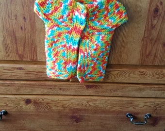 Crochet little girl's sweater vest