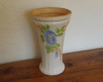 """Vintage Floor Vase Jardiniere Robinson Ransbottom Roseville Ohio 14"""" Tall"""