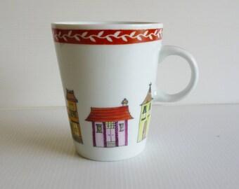"""Mug porcelain """"little houses"""" No. 2"""