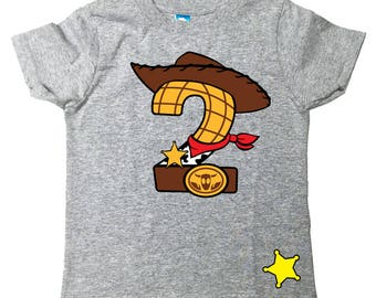 Custom Toy Story Inspired birthday shirt Toy Story Birthday Shirt Tee Shirt with Name on Back Woody Buzz