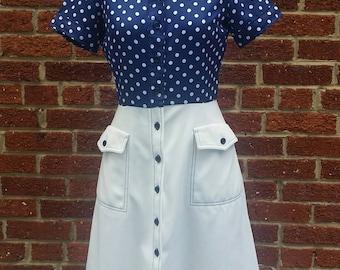 Vintage 1960s Mod Polka Dot Shift Dress // Rockabilly Pinup Dress