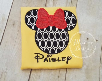 Girl Mouse Gorgeous Custom embroidered Disney Inspired Vacation Shirts for the Family! 743 circles