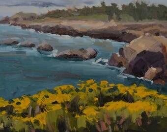 Carmel - Point Lobos - Plein Air - Landscape - Oil Painting - Seascape - Coastline - California - Coast - Sea - Ocean - Sea - Water - Rocks