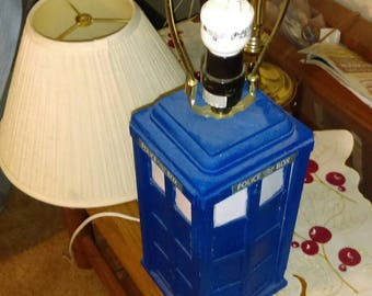 Dr who,Police box lamp, home decorations, fathers day, mothers day, desk lamp, table lamp, room light, bedroom decor.