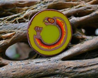 Ouroboros v3 Murrine Coin - 12.7g