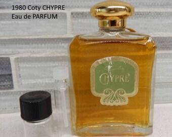 1986 Rare Coty CHYPRE eau de Parfum Perfume decants
