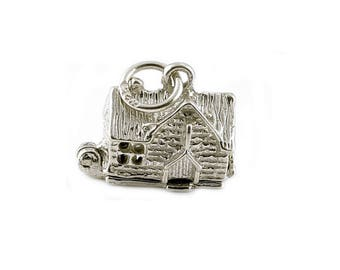 Sterling Silver Opening Village Pub Charm For Bracelets